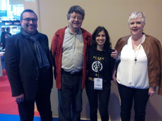 Eloïse, Franck, mes éditeurs, ainsi que Thiebault de Saint Amand, l'auteur de Hospice & Love